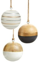 Nordstrom Set of 3 Wooden Ball Ornaments