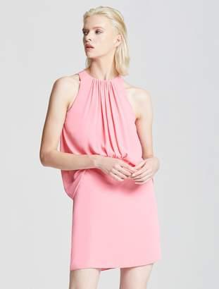 Halston Shirred Front Dress
