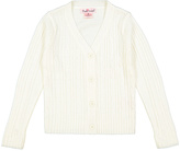 Pink Angel Off White Cable-Knit V-Neck Cardigan - Infant Toddler & Girls