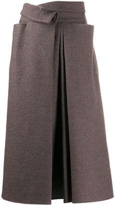 Lemaire High-Waisted Wool Skirt