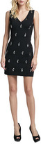 Tracy Reese V-neck Dress with Diamond-Shape Studs