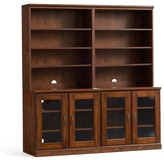 Pottery Barn Printer's Double Bookcase, Tuscan Chestnut