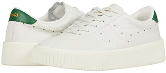 Gola Super Court Leather (Off-White/Green) Women's Shoes
