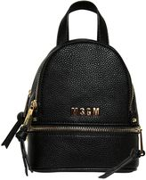 MSGM Textured Faux Leather Backpack