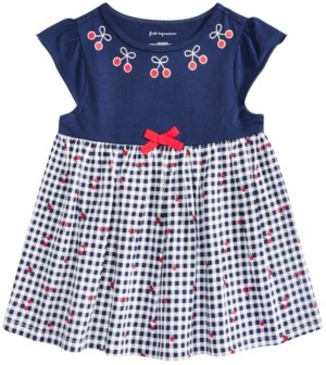 First Impressions Baby Girls Cherry Gingham Tunic, Created for Macy's