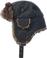 Grey Faux Fur Trapper Hat