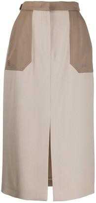 Fendi Straight-Cut Midi Skirt