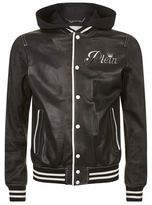 Philipp Plein Troublemaker Leather Bomber Jacket