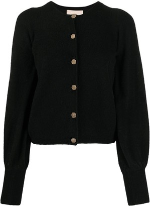 By Ti Mo Rib-Trimmed Long-Sleeved Cardigan