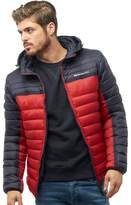 Crosshatch Mens Pyffan Padded Jacket With Detachable Hood Night Sky/Sundried Tomato