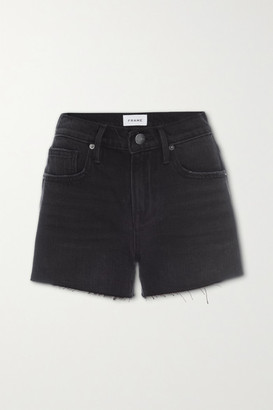 Frame Le Brigette Distressed Denim Shorts - Black