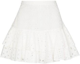 Charo Ruiz Ibiza Natalie broderie-anglaise mini skirt
