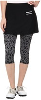 Jamie Sadock Actif 26 in. Chopstix Print Capri with Attached Skort