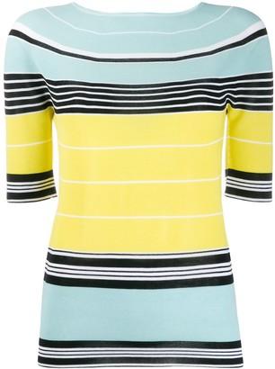 Lanvin Striped Knit Top