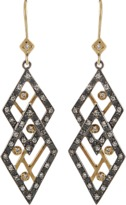 ANNIE FENSTERSTOCK Double Diamond Earrings