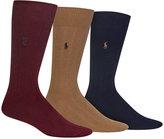 Polo Ralph Lauren 3 Pack Cotton Rib Casual Men's Socks