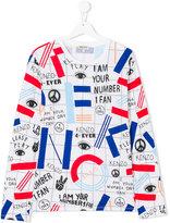 Kenzo slogan symbol print T-shirt - kids - Cotton - 14 yrs
