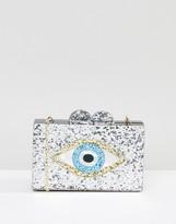 Liquorish Glitter Evil Eye Clutch