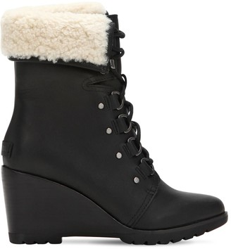 Sorel 70mm After Hours Shearling Lace-Up Boots