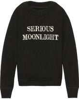 The Elder Statesman Serious Moonlight Intarsia Cashmere Sweater - Black