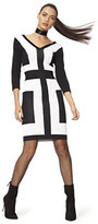 New York & Co. V-Neck Colorblock Sweater Dress