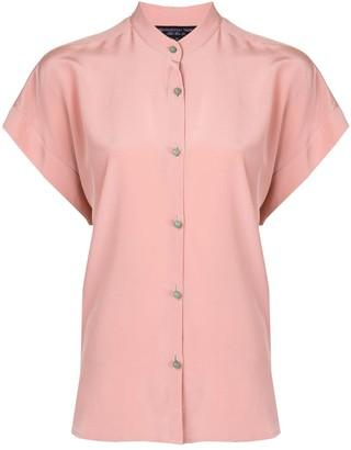 Shanghai Tang Jewel Button Boxy Shirt