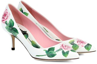 Dolce & Gabbana Floral leather pumps