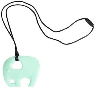 Nibbling Elephant Teether Toy, Mint