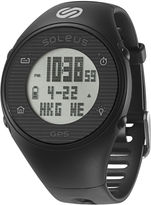 Soleus GPS One Black Silicone Strap Running Digital Sport Watch