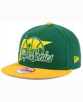 New Era Seattle SuperSonics HWC Logo Stacker 9FIFTY Snapback Cap