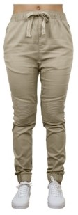 Galaxy By Harvic Women's Loose Fit Twill Cotton Stretch Moto Jogger