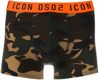 DSQUARED2 Camouflage Print Logo Waistband Boxers