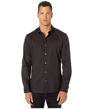 John Varvatos Clayton Long Sleeve Shirt (Jet Black) Men's Long Sleeve Button Up