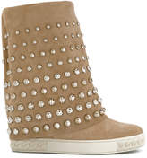 Casadei disc embellished Chaucer boots