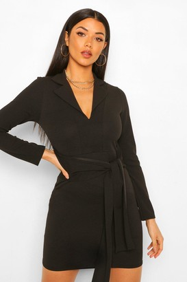 boohoo Belted Blazer Dress