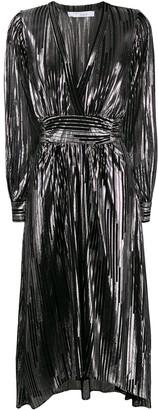 IRO metallic striped midi dress