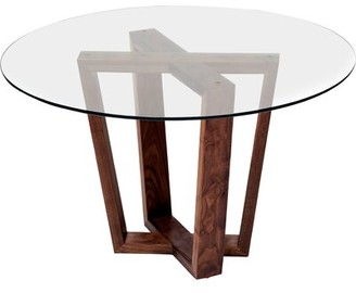 """Artless GAX XW Dining Table Size: 30"""" H x 36"""" W x 36"""" D, Color: Black Oak"""