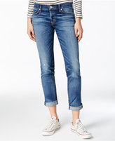 Hudson Riley Cuffed Disharmony Wash Straight-Leg Jeans