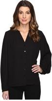 NYDJ Pleated Sleeve Blouse Women's Blouse