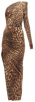Alexandre Vauthier Leopard-print One-shoulder Ruched Maxi Dress - Leopard Print