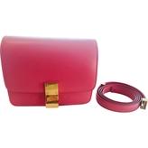 Celine Pink Leather Handbag Classic
