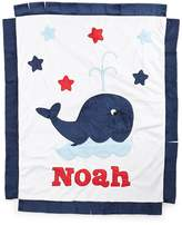 Boogie Baby Plush Whale Blanket, White/Navy