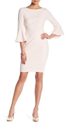 Calvin Klein Bell Sleeve Scuba Dress