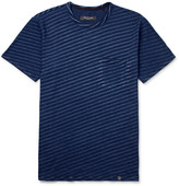 Rag & Bone James Slim-fit Striped Cotton-jersey T-shirt - Indigo