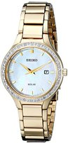 Seiko Women's SUT138 Dress Solar Analog Display Japanese Quartz Gold Watch