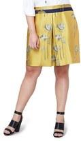 Rachel Roy Floral Print A-Line Skirt (Plus Size)
