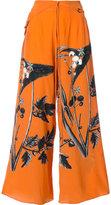 OSKLEN printed palazzo pants - women - Silk - 36