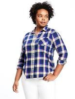Old Navy Plaid Flannel Plus-Size Shirt