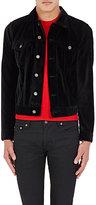 Saint Laurent Men's Velvet Trucker Jacket-BLACK