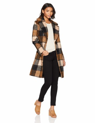 Kensie Women's MID Length Notch Collar Wool Coat